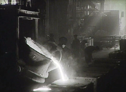 Workers of the USSR at the factory. Newsreel Footage