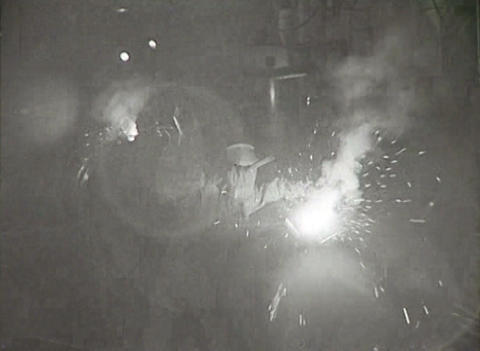 Workers of the USSR at the factory. Newsreel Stock Video Footage