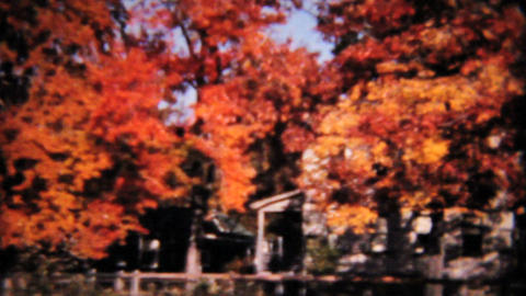 Beautiful Fall Colors 1958 Vintage 8mm film Stock Video Footage