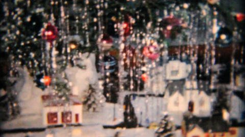 Christmas Tree And Random Bits 1958 Vintage 8mm film Stock Video Footage