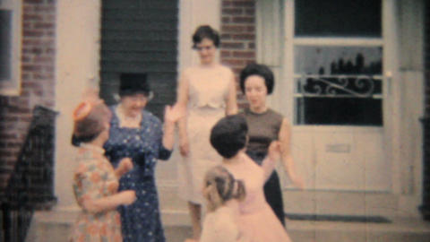Girls Posing For Camera 1964 Vintage 8mm film Stock Video Footage