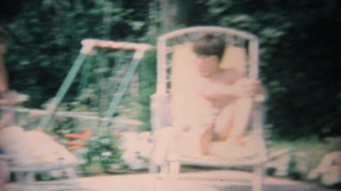 Pool Party With Teenagers 1969 Vintage 8mm film Stock Video Footage