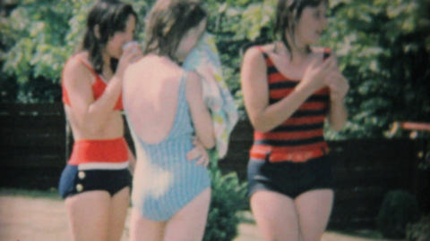 Pool Party With Teenagers 1969 Vintage 8mm film Footage