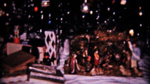 Christmas Scene New Dolls 1958 Vintage 8mm film Stock Video Footage