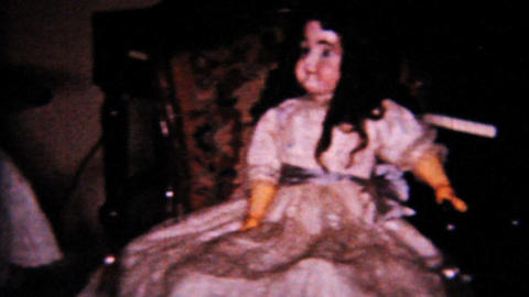 Christmas Scene New Dolls 1958 Vintage 8mm film Footage