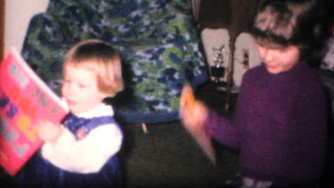 Girl Gets New Dress For Christmas 1968 Vintage 8mm film Stock Video Footage