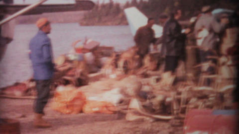 Hunters Check Out The Spoils From Hunting Trip 1969... Stock Video Footage