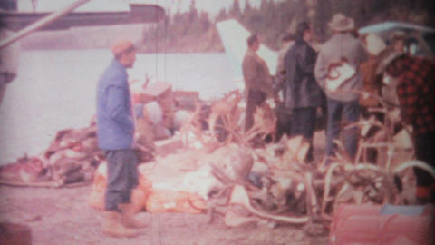 Hunters Check Out The Spoils From Hunting Trip 1969 Vintage 8mm film Footage