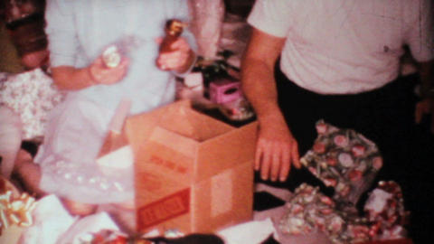 Opening Christmas Gifts 1967 Vintage 8mm film Footage