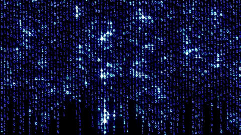 Binary Fashion Wall 3 Stock Video Footage