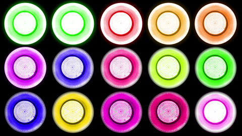 Colorful Led Lights Flashing 1 Stock Video Footage