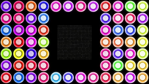 Colorful Led Lights Flashing 3 Animation