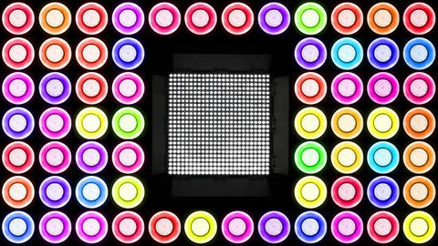 Colorful Led Lights Flashing 3 Stock Video Footage