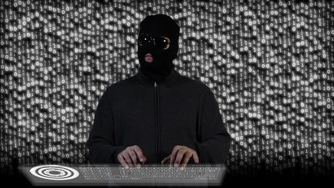 Hacker Breaking System Fail 9 Stock Video Footage