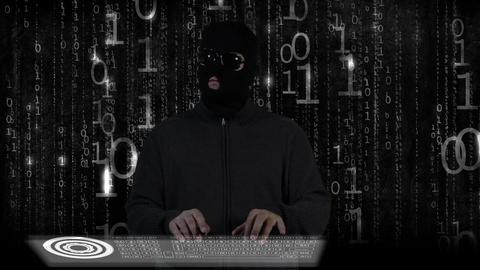 Hacker Breaking System Fail 13 Stock Video Footage