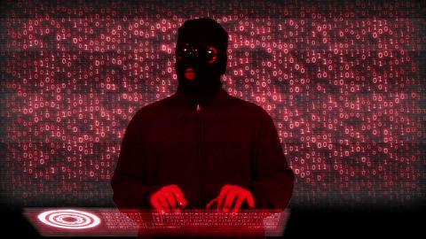 Hacker Breaking System Fail Matrix 1 Stock Video Footage