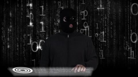 Hacker Breaking System Success 16 Stock Video Footage