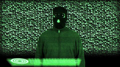 Hacker Breaking System Success Matrix 1 Stock Video Footage