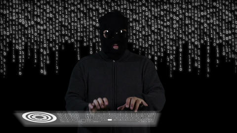 Hacker Breaking System Thinking 9 Stock Video Footage