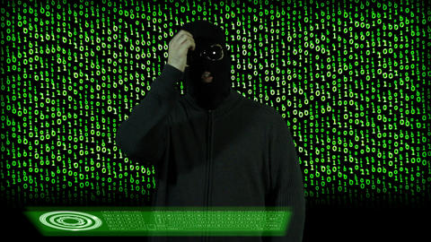 Hacker Breaking System Thinking 11 Stock Video Footage
