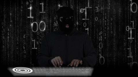 Hacker Breaking System Thinking 13 Stock Video Footage