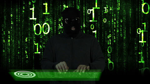 Hacker Breaking System Thinking 15 Stock Video Footage