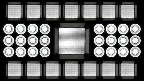 Led Lights Flashing 4 Stock Video Footage