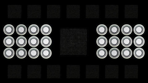 Led Lights Flashing 4 Stock Video Footage
