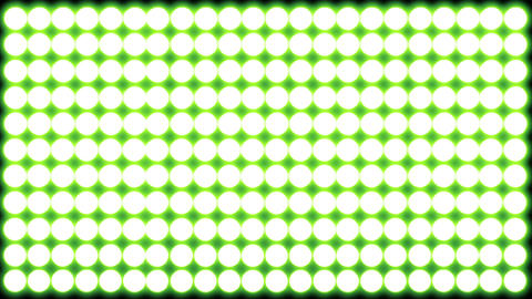 Led Lights Green 4 stock footage