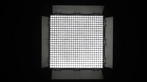 Led Lights Turn Up Down 1 Stock Video Footage