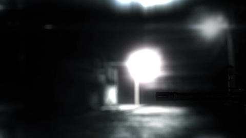 Masked Commando Man with Gun in Scary Alley 18 Stock Video Footage