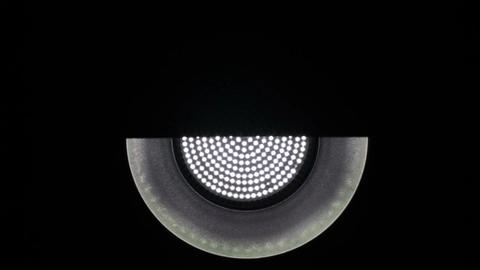 Medium Light Reflector Up Down Shutter Effect Loop 3 Stock Video Footage