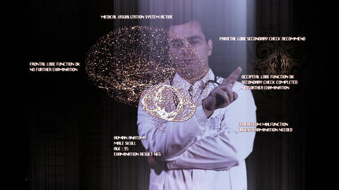 Young Doctor Touchscreen Medical Brain Examination... Stock Video Footage