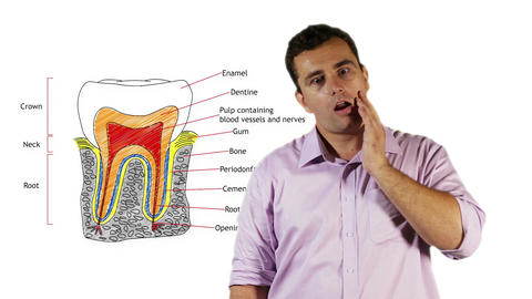 Young Man Tooth Pain 1 Stock Video Footage