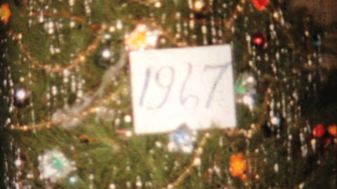 Christmas Tree Candle And Presents 1967 Vintage 8mm film Footage