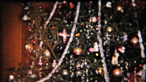 Presents Under The Christmas Tree 1958 Vintage 8mm film Stock Video Footage