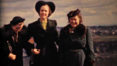 Women Tourists Enjoying The Saint Lawrence Seaway 1958... Stock Video Footage
