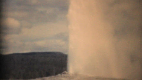 Old Faithful Geyser Yellowstone Park 1958 Vintage 8mm film Footage