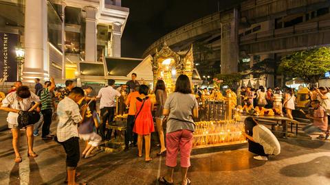 Timelapse - Erawan temple in Bangkok Footage