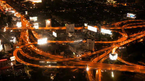 Timelapse - Highway from above Stock Video Footage