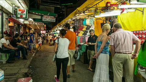 Timelapse of Bangkok night market Footage