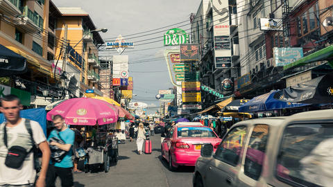 Bangkok Khaosan Road Stock Video Footage