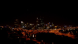Perth City at Night Stock Video Footage
