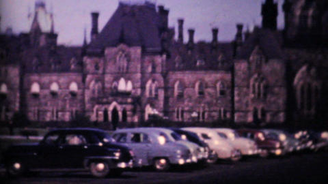Canadian Parliament Buildings Ottawa 1958 Vintage 8mm film Stock Video Footage