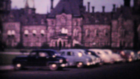 Canadian Parliament Buildings Ottawa 1958 Vintage 8mm Film stock footage