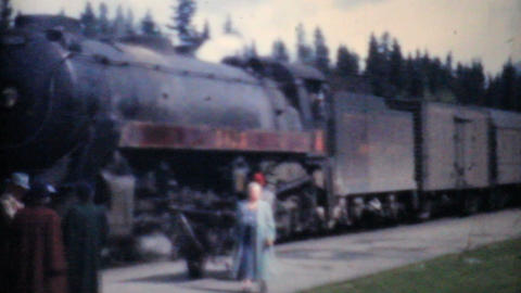 Family Takes Train To Lake Louise Alberta 1958 Vintage 8mm film Footage
