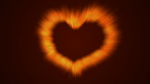 Fire Love Heart stock footage