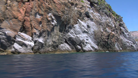 eolian island coast 02 Stock Video Footage