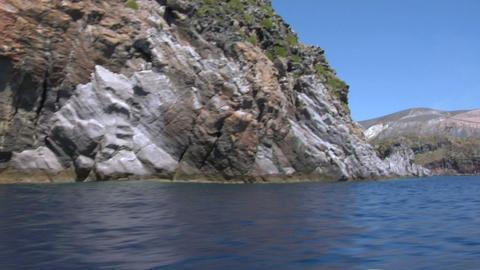 eolian island coast 02 Stock Video Footage
