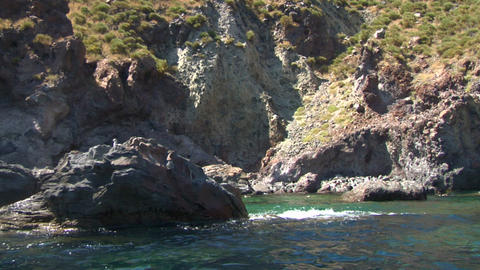 eolian island coast 04 Stock Video Footage
